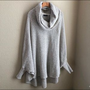 Sweaters - Cotten Girls Cowl Neck Poncho